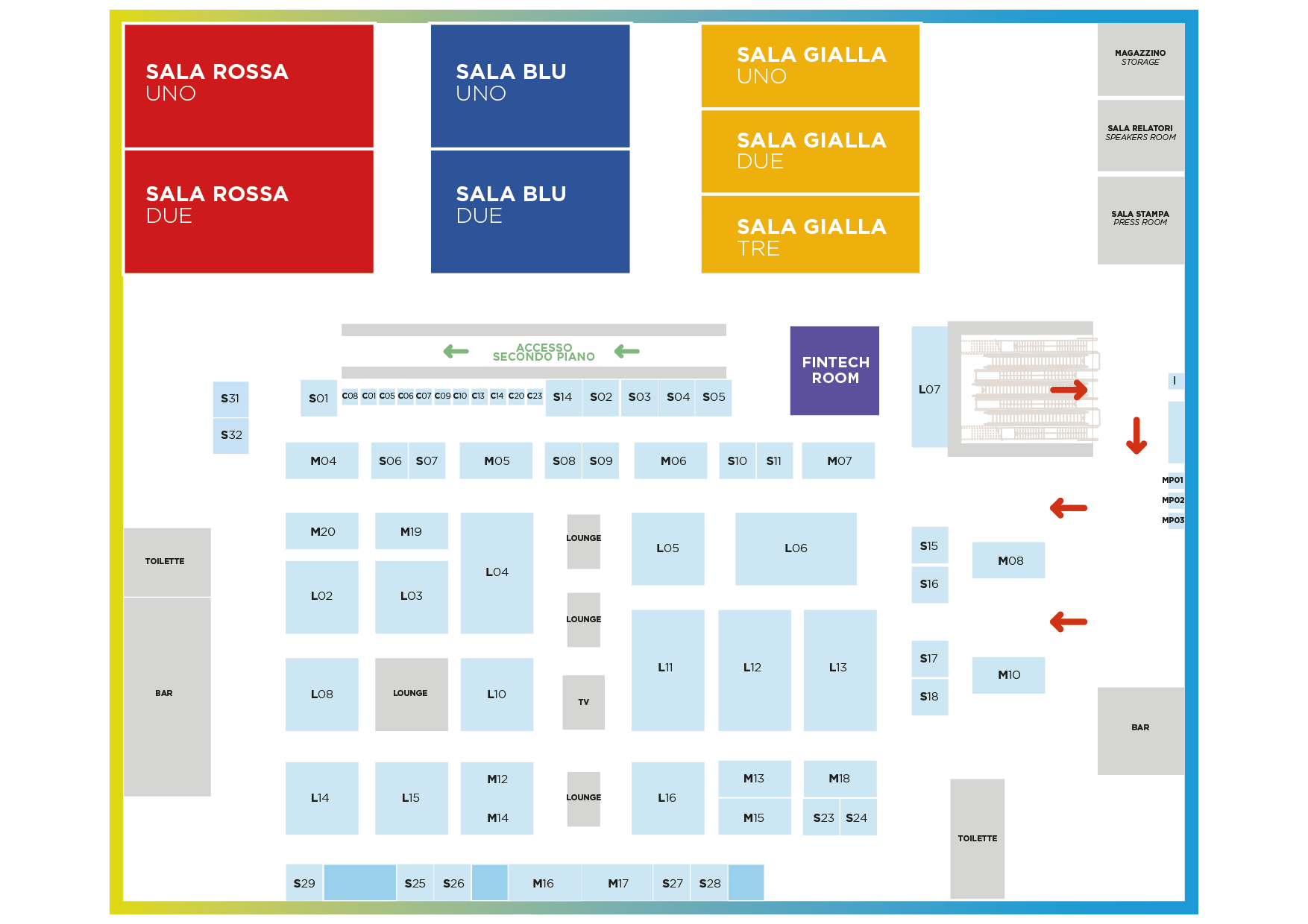 Mappa - Il Salone dei Pagamenti